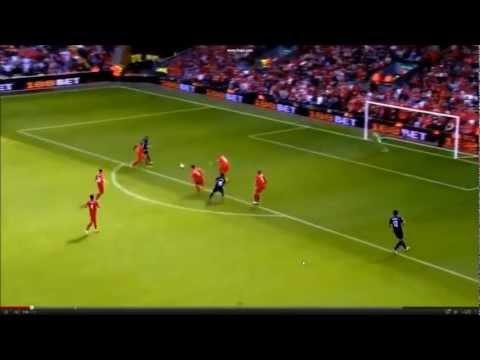 Lukas Podolski & Santi Cazorla first goals for Arsenal