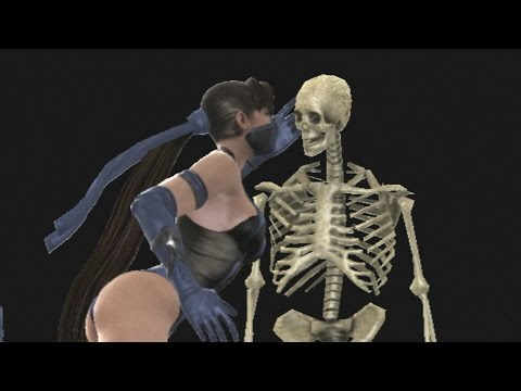 Mortal Kombat Vs DC Universe All Fatalities and Heroic Brutalities on Skeleton *MOD*