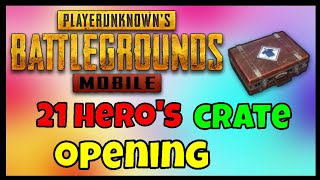 How to get legendary outfit in Pubg Mobile | 20+ hero's crate opening
