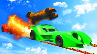 MILE HIGH BATMOBILE TIGHTROPE RAMPAGE! (GTA 5 Funny Moments)