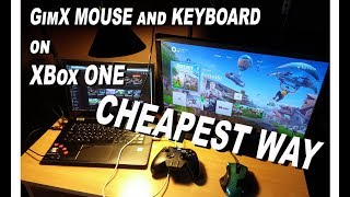10USD REAL way to use Mouse and Keyboard on XBox ONE - DIY GimX - Fortnite / PUBG - It's like Xim4