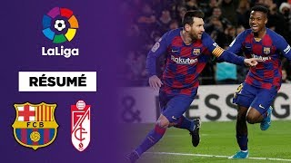 Résumé : Pour la première de Setién, le FC Barcelone s'offre Grenade
