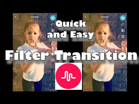 Quick and Easy Transition: Filter Transition / Musical.ly