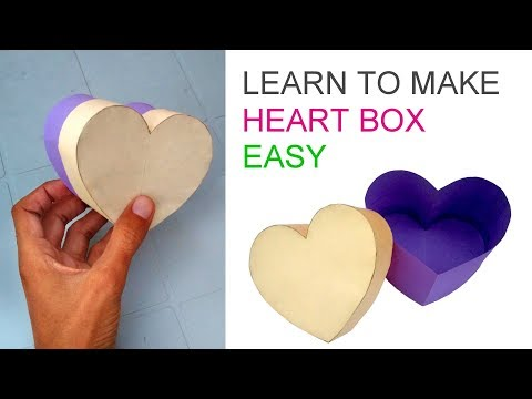 Making heart box or love box easy