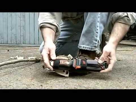 Bear Grylls Bow Drill Knife Mod - Bearing Block Knife Modification