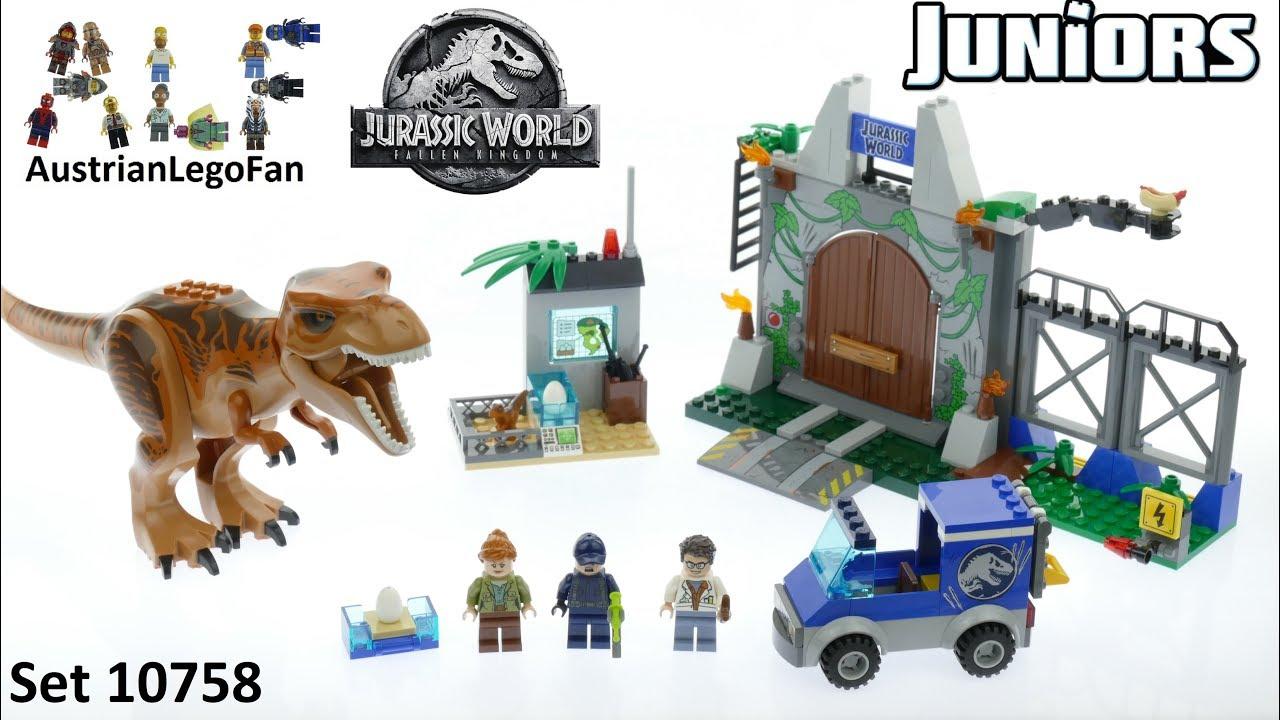 Lego Jurassic World Juniors 10758 T  Rex Breakout - Lego Speed Build Review