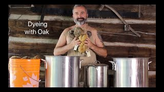 How to dye yarn Oak