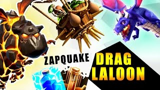 ZapQuake DragLALOON : TH9 NEW STRONG WAR ATTACK STRATEGY! | Clash of Clans