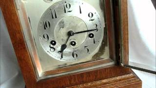 Huge 1920s Oak Junghans 8 Day Bracket Clock For Sale On Ebay Uk.