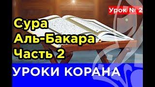 2. КОРАН-ОНЛАЙН. Сура  аль-Бакара. Часть 2.