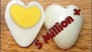 طريقة عمل بيضة على شكل قلب لتزيين السلطات