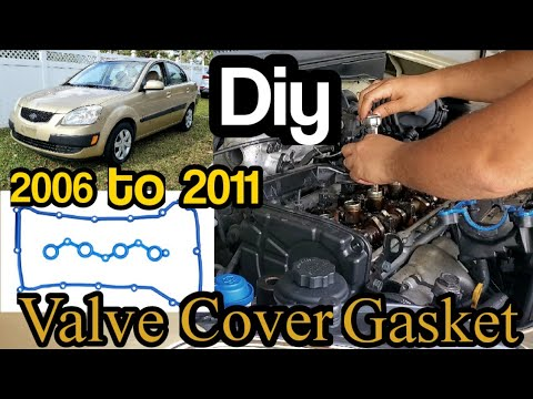 How To Replace The Valve Cover Gasket on a Kia Rio 1.6L (2006 to 2011 Models)