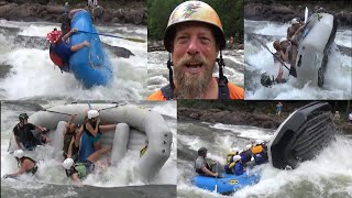 Ocoee River Whitewater Fun: Trainees And Guide Antics With Some Honest Carnage!