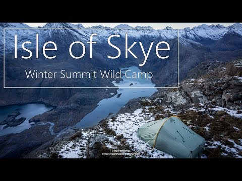The Black Cuillin Skye Winter Wild Camp