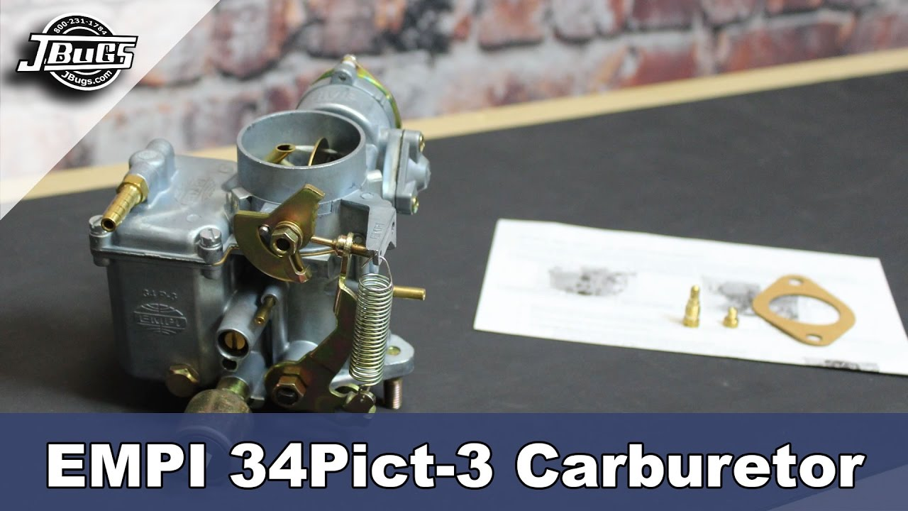 jbugs product spotlight empi 34 pict 3 carburetor [ 1280 x 720 Pixel ]