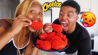 HOW TO MAKE FRIED FLAMIN&#39 HOT CHEETOS CHICKEN WINGS  COOKING WITH TATIANNA AND TYJAE