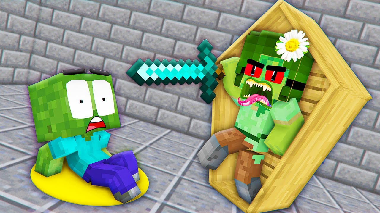 Monster School : Bad Mother Zombie and Poor Baby Zombie Wolf Girl - Sad Story - Minecraft Animation