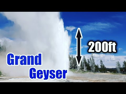 Yellowstone National Park - Grand Geyser Eruption - The Largest Geyser (2019)