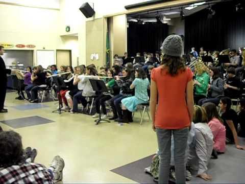 Ferndale, WA elementary school band concert