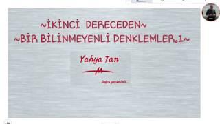 İKİNCİ DERECEDEN BİR BİLİNMEYENLİ DENKLEMLER.1#yks #tyt #ayt #matematik