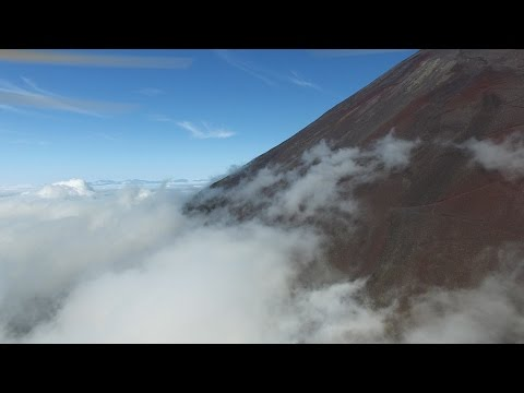 Mt Fuji in Japan: A Drone's View