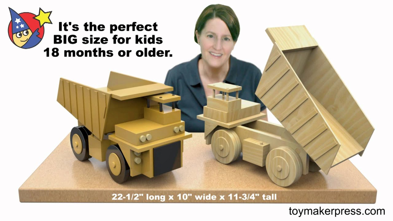 Wood Toy Plans - Giant Coal Mine Truck - YouTube