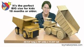 Wood Toy Plans - Giant Coal Mine Truck