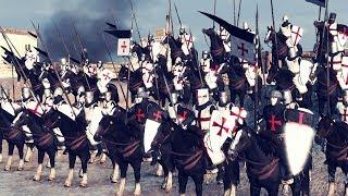 Рыцари Ордена Госпитальеров Штурмуют Крепость Тамплиеров
