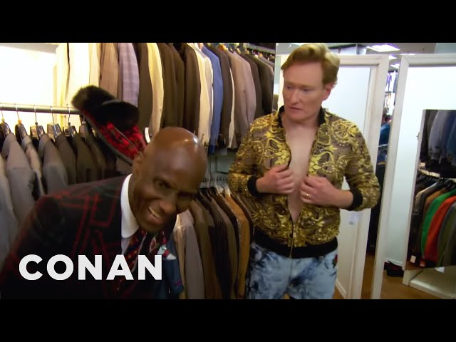 Conan Gets Styled By Dapper Dan | CONAN on TBS