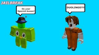 DUOLINGO ARRESTS LESSON SKIPPERS!!! (Roblox Jailbreak)