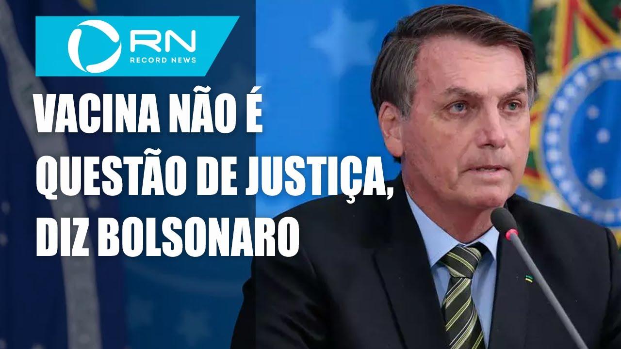 Bolsonaro diz que juiz não pode decidir obrigatoriedade da vacina
