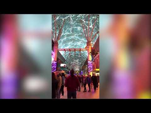 The Fantastic show- Fremont Street , Las vegas Fantasztikus show a gigantikus LED kijelzőn-Las Vegas