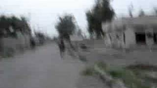 US Marines on Foot Patrol During Prayer - Al Anbar, Iraq