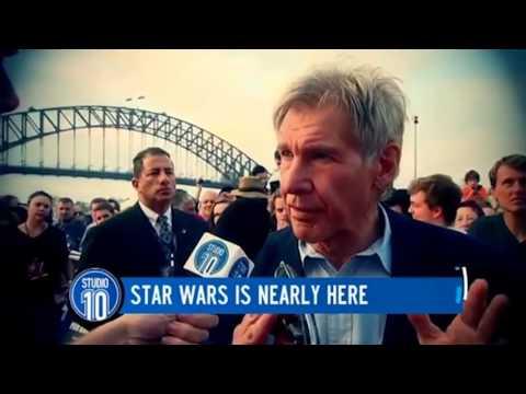 Life long Star Wars fan Steele Saunders & HARRISON FORD on the red carpet!