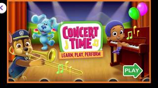 Play, learn and have fun with concert time on the Noggin app games!