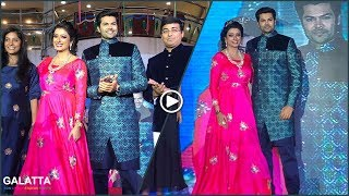 Cute couple Ganesh Venkatraman & Nisha  Walks For Viswa and Devji's Latest Wedding Collections