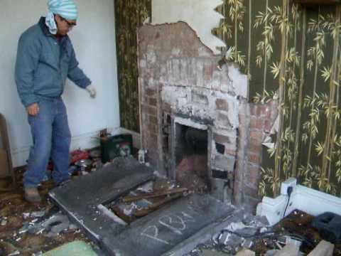 Removing old fireplace 1 youtube - How to put out a fireplace ...