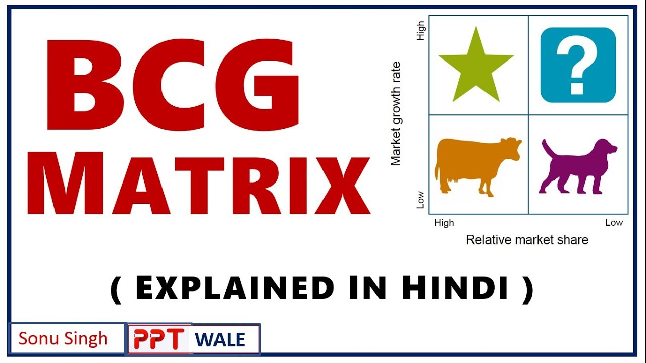 BCG MATRIX IN HINDI | Stars, Cash Cows, Question Marks & Dogs | Strategic  Management ppt
