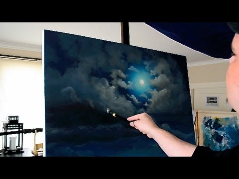 stonehenge full moon acrylic time lapse painting youtube