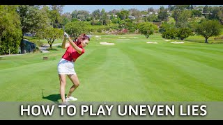 HOW TO PLAY UNEVEN LIES GOLF TIP WITH YOUTUBE SENSATION AIMEE CHO