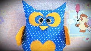 Подушка с секретом СОВЁНОК,  МК(Как сшить подушку ребенку быстро и просто вы узнаете из нашего мастер-класса. Интересная идея для подарка..., 2016-03-29T15:50:40.000Z)