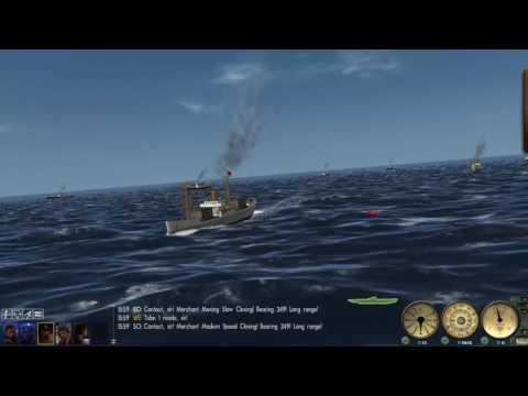 GWX/SH3 sinking a medium size convoy