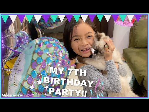 MY 7th Birthday Party at FUNKY MONKEY Play Place | Vlog with Emma