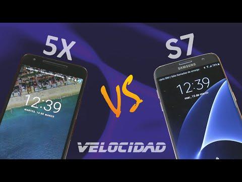 GALAXY S7 (Touchwiz) vs NEXUS 5X (Android Puro) - Test de velocidad