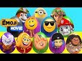 The Emoji Movie Mega Play-doh Surprise Eggs with Hi-5, Jailbreak Paw Patrol Toys - Ellie Sparkles