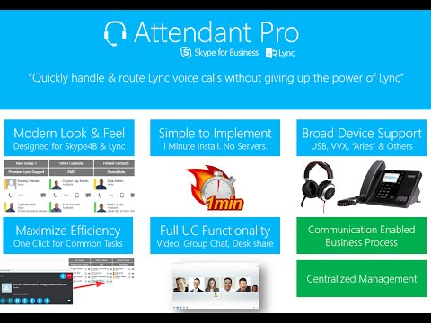 Attendant Pro: Operator Console for Skype for Business & Lync Attendant Replacement Alternative