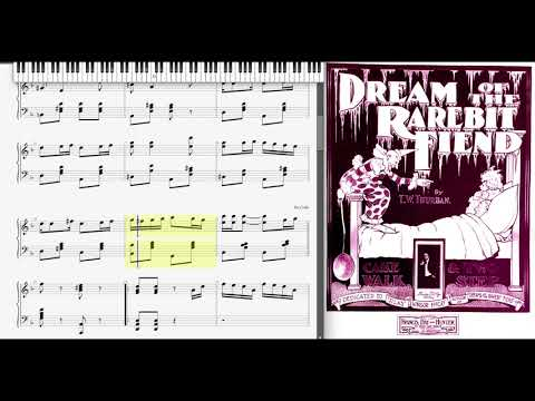 Dream of the Rarebit Fiend by T. Thurban (1899, Ragtime piano)