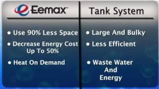 eemax tank water heaters vs tankless water heaters