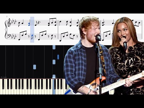 Ed Sheeran & Beyoncé - Perfect Duet - Piano Tutorial + SHEETS