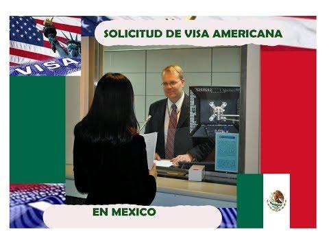 Solicitud de visa americana en Mexico